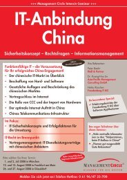 IT-Anbindung China - Asia-Pacific Management Consulting GmbH