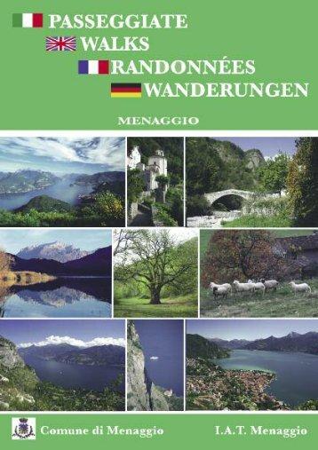 Itinerari consigliati a piedi nei dintorni di Menaggio con piantina