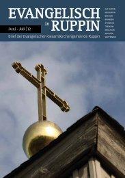 JUNI JULI - Kirchenkreis Wittstock-Ruppin