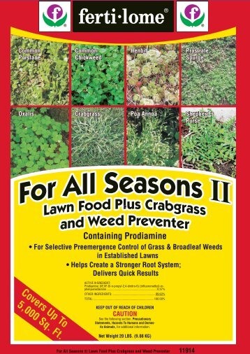 Label 11914 For All Seasons II Approved 5-10-13 - Fertilome