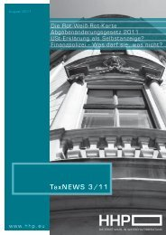 TaxNEWS 3/11 - HHP - Hammerschmied Hohenegger und Partner