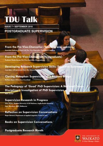 Postgraduate Supervision - The University of Waikato