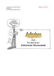 zum S e m i n a r  Elektrische Messtechnik - FG Elektronische ...