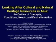Looking After Cultural and Natural Heritage Resources in Asia ...