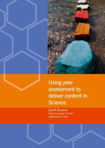Using peer assessment to deliver content in Science