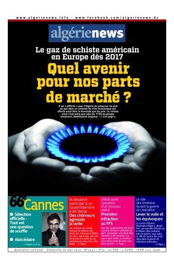 Fr-26-05-2013 - Algérie news quotidien national d'information