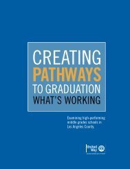 Creating Pathways to Graduation - United Way of Greater Los Angeles