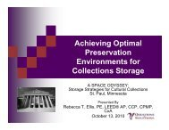 Achieving Optimal Preservation Environments for ... - CCAHA