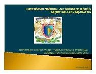 contrato colectivo de trabajo para el personal administrativo ... - UNAM