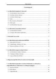 Állatvédelem Tartalomjegyzék 1. Az állatvédelem fogalmai és ...