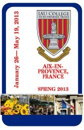 Aix-en-Provence Guide - Institute for American Universities