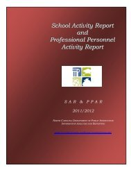 School Activity Report and Professional Personnel Activity Report