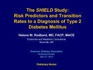 The SHIELD Study - American Diabetes Association
