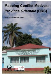 Mapping Conflict Motives: Province Orientale (DRC) - Ipis