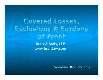 View the complete presentation slide show - Brais & Brais