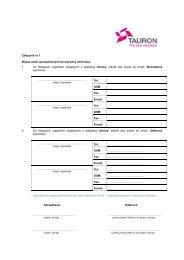 Załączniki do Umowy rezerwowej sprzedaży ... - TAURON Biznes