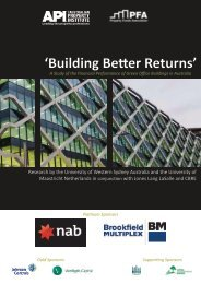 'Building Better Returns' - The Australian Property Institute