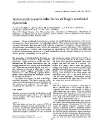 Autosomal recessive inheritance of Nager acrofacial dysostosis