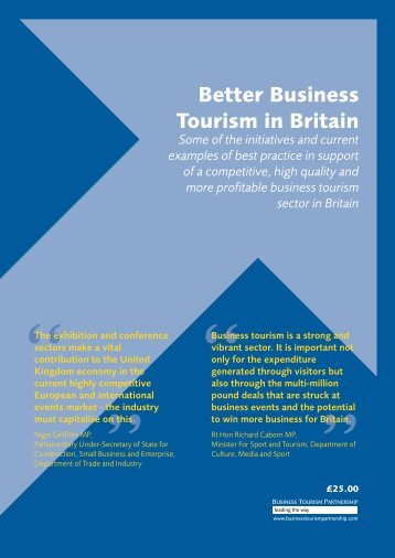Better Business Tourism in Britain - Business Visits & Events ...