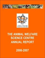 Animal Welfare Science Centre Annual Report 2006/07