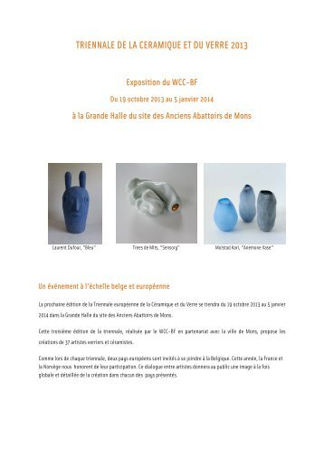 triennale de la ceramique et du verre 2013 - Swissceramics