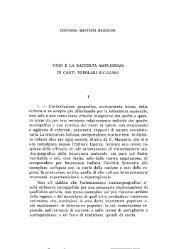 Bronzini Giovanni Battista, Vigo e la Raccolta Am plissima di Canti ...