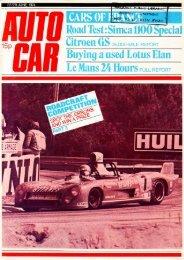 Page 1 22/29 JUNE 1974 MHH l la Simca 1100 Spec TAKEN #WAY ...