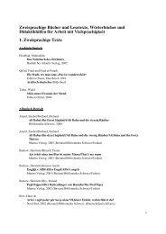 Liste zweisprachiger Bücher - Bibliomedia