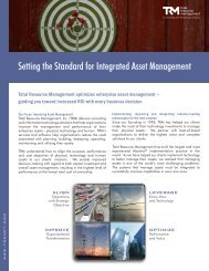 Setting the Standard for Integrated Asset Management