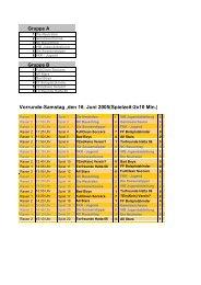 Spiel um Platz 3 - VfB Kirchhellen
