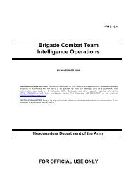 Brigade Combat Team Intelligence Operations - Federation of ...