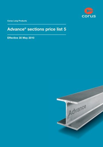 Advance® sections price list 5, effective from 30 May 2010 - Tata Steel