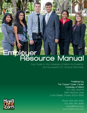 Employer Resource Manual - Student Affairs - University of Miami