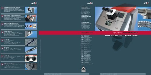 DER NEUE PERFORMANCE - Rofin
