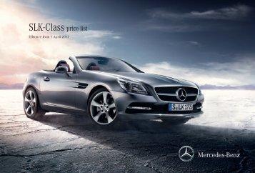 SLK-Class price list - Mercedes-Benz (UK)