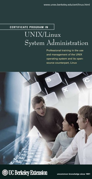 Unix/Linux System Administration - UC Berkeley Extension