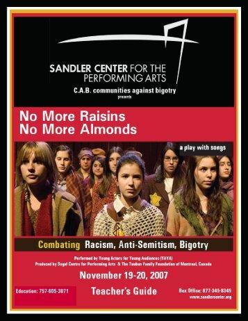 Teacher's Guide Virginia - Sandler Center for the Performing Arts