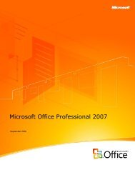 Introduction to Microsoft Office Professional 2007