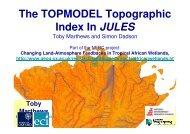 The TOPMODEL Topographic Index In JULES
