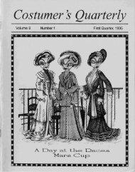 Vol 8 No 1 - International Costumers' Guild, Inc.