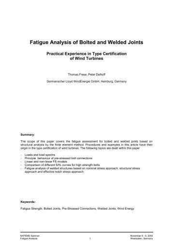 Fatigue Analysis of Bolted and Welded Joints