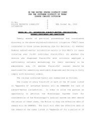 IN THE UNITED STATES DISTRICT COURT FOR THE SOUTHERN ...