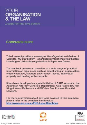 Your Organisation & The Law - Mallesons