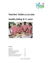 Teachers' Guide (revised 2008) Healthy Eating: 8 ... - Food a fact of life