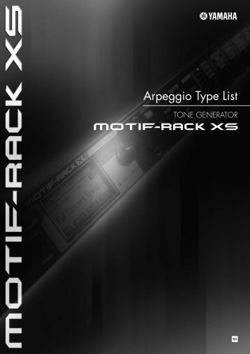 Arpeggio Type List - zZounds.com