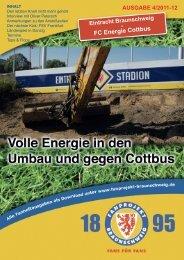 Heft 04: Energie Cottbus - FanPresse Braunschweig