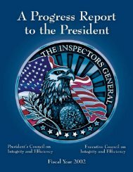 A Progress Report to - Council of the Inspectors General on Integrity ...