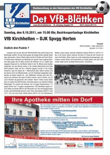 Tabelle nach dem 7. Spieltag 7. Spieltag - VfB Kirchhellen
