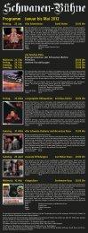 Programm Januar bis Mai 2012 - Schwanen (Stein am Rhein)