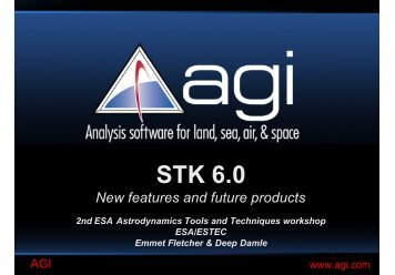 STK Astrodynamics Tools and Techniques - ESA